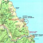 Отсечка от новото издание на Туристическата карта на Странджа с местоположението на нос. Св. Яни край Ахтопол. Картата ще бъде представена в отделен доклад на Програмно-координационния център за научни изследвания  - Екопан.