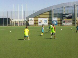 Летни тренировъчни занимания по футбол  на стадиона в Поморие