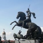 Откриване на скулптурната композиция на Свети Георги на 6 май 2016 г.