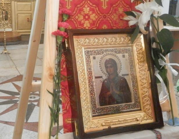 """Иконата """"Света Богородица Седмострелна"""" в Поморие"""