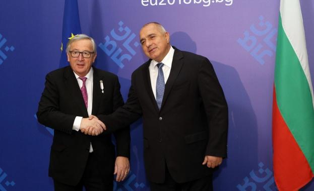 Премиерът Борисов се срещна  с председателя на ЕК Жан-Клод Юнкер
