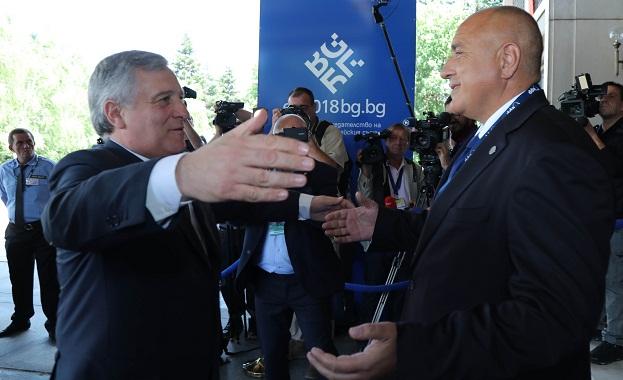 Борисов се срещна с председателя на Европейския парламент Антонио Таяни