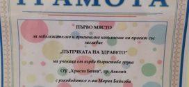 Училището в Ахелой спечели първа награда на Министерството на културата в конкурс