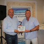 От Българската федерация по лека атлетика наградиха с плакет кмета на община Поморие
