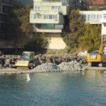 Строителни дейности по заключителния етап от изграждането на рибарското пристанище в Поморие